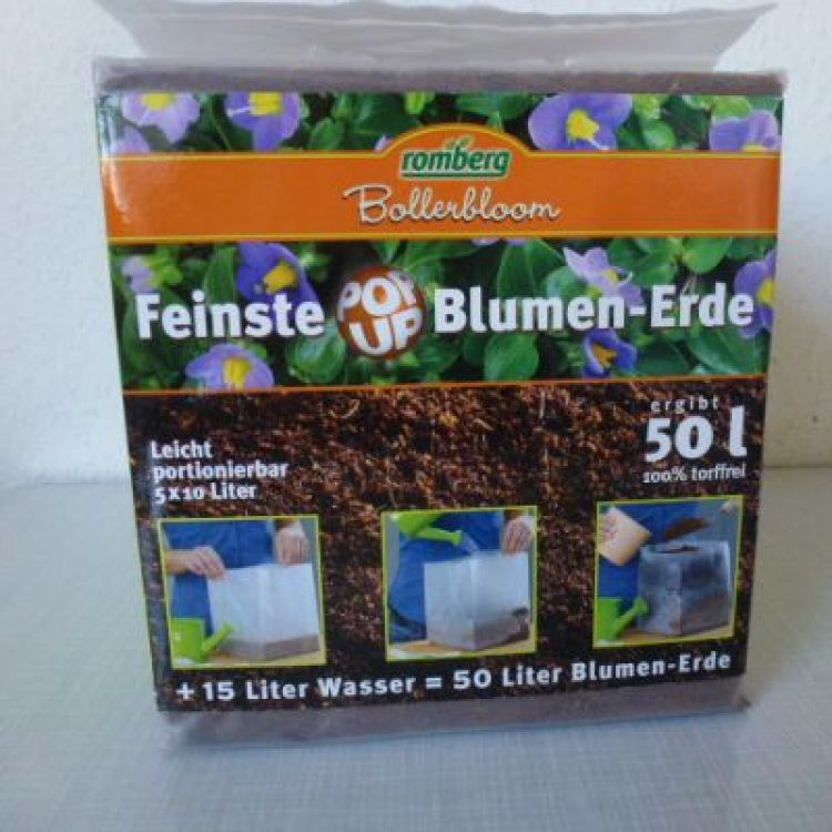 Blumen-Erde Pop Up 50L